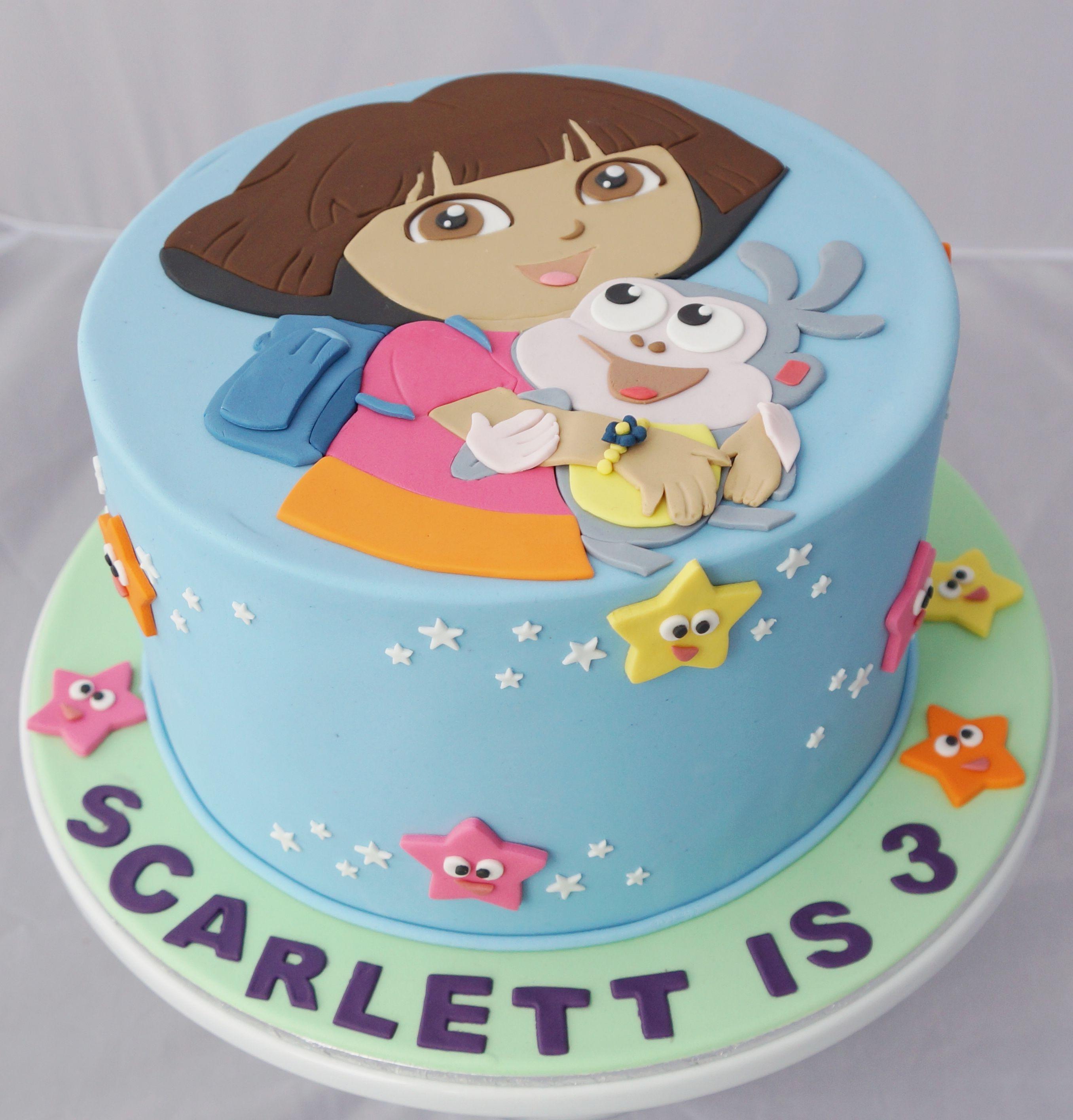 Dora Cake Dora Cake Dora Birthday Cake 3rd Birthday Cakes