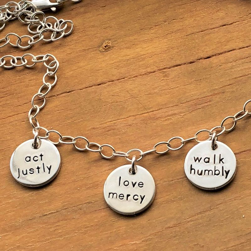 Micah 6:8 Charm Necklace | Inspiration | Jewelry, Christian