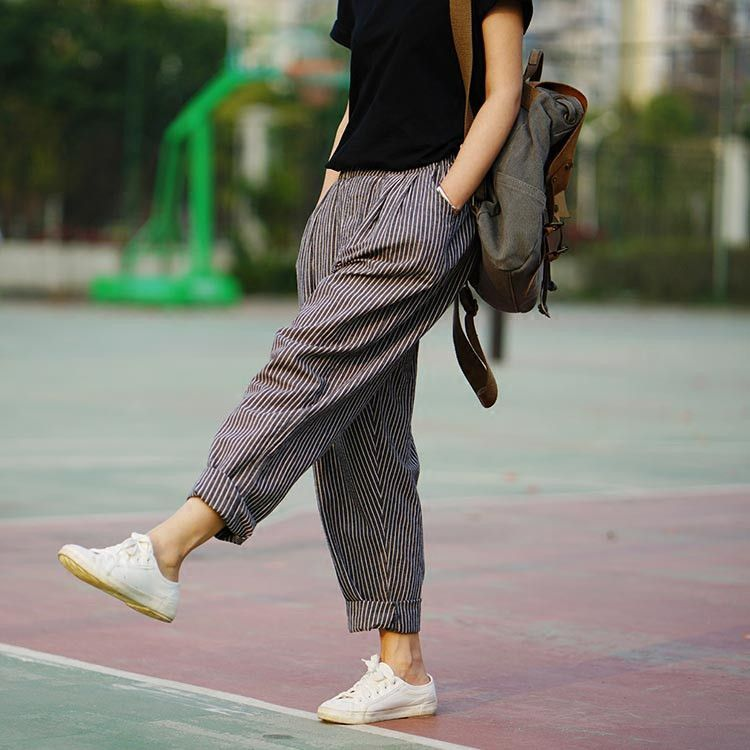 Trousers For Women Spring & Summer Women's Linen Pants