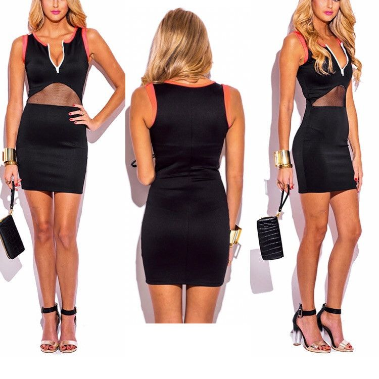 Zip Front Dress (order a size up)