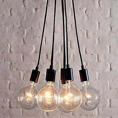 Kaufen (EU Lager)60W E27 minimalistische Pendelleuchte mit 7 Lampen