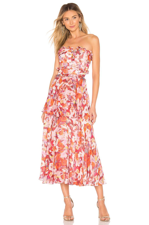 3ac34aa8a7c AMUR Darla Dress in Rust