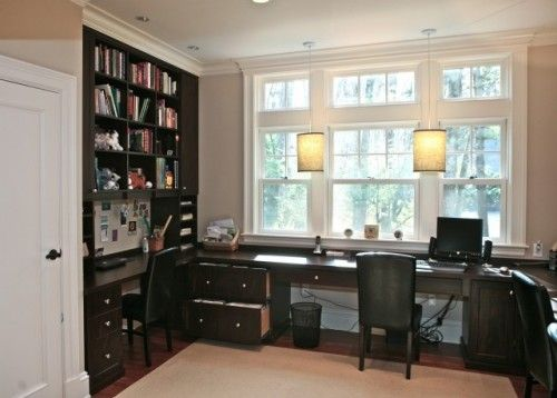 Office Layout With Big Window Modular Home Office Furniture
