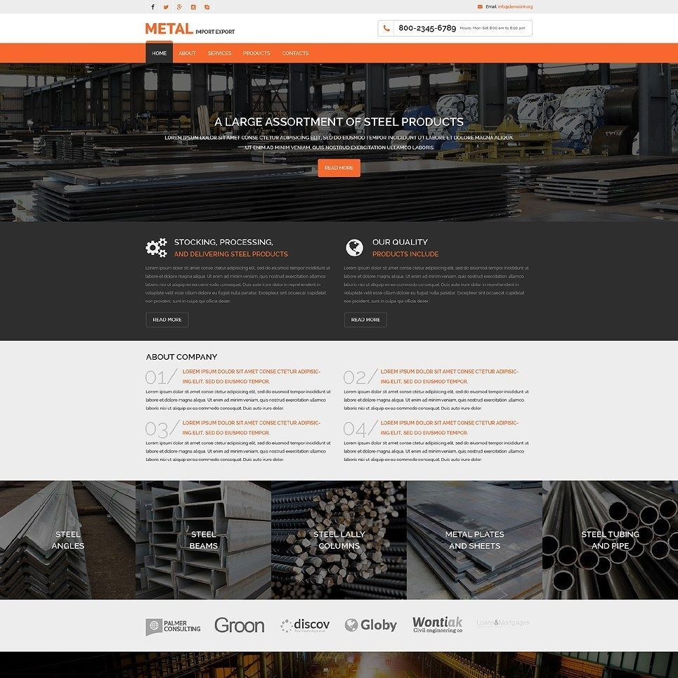 Click here to go to the company website - Industrial Responsive Website Template Click Here Live Demo Http