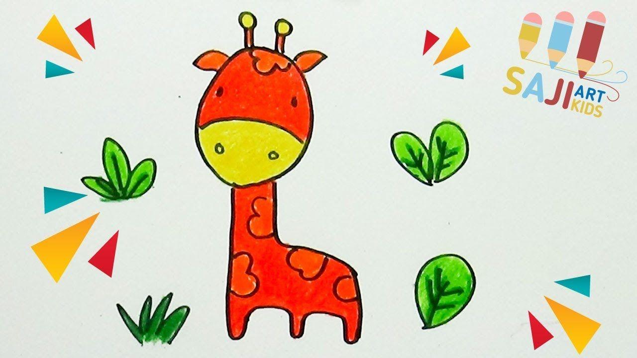 วาดร ประบายส ไม สวยๆ วาดร ปย ราฟ การ ต น How To Draw A Giraffe Draw การ ต น