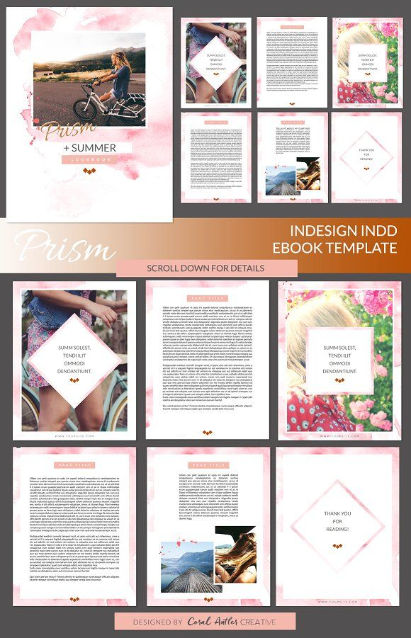 Prism InDesign Ebook Template | Pinterest | Template, Presentation ...