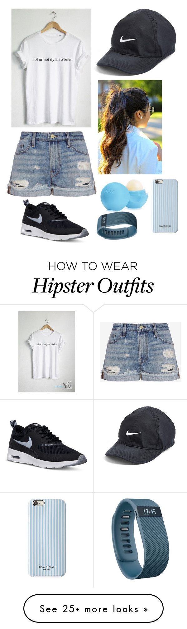 """""""Untitled #129"""" by chameleon141 on Polyvore featuring Frame Denim, NIKE, Eos, Isaac Mizrahi, Fitbit, women's clothing, women, female, woman and misses"""