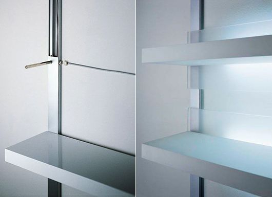 wandregale-für-moderne-wandgestaltung-mit-led-regalen-und - moderne wandgestaltung wohnzimmer