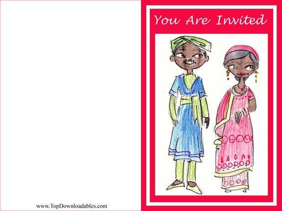 Free Printable #Tamil #Wedding #Invitation #Templates