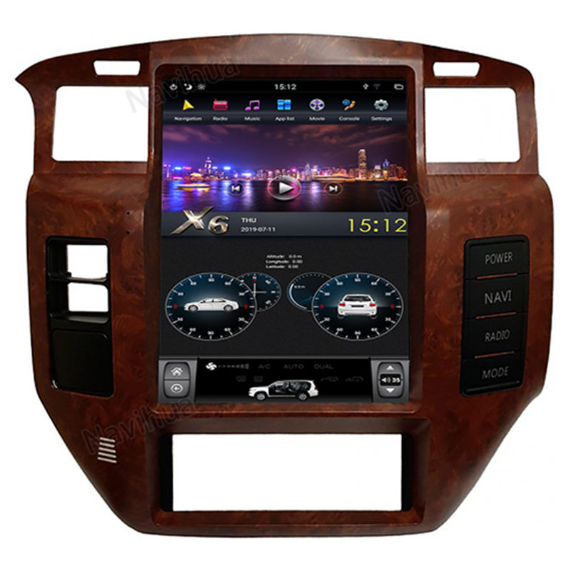 12 1 Vertical Screen Tesla Android Car Stereo Radio Audio Dvd Gps Navigation Head Unit Sat Nav Infotainment Replacement Nissan Patrol Y61 2005 2006 2007 2008 2 In 2020 Android Car Stereo Car Stereo Gps Navigation