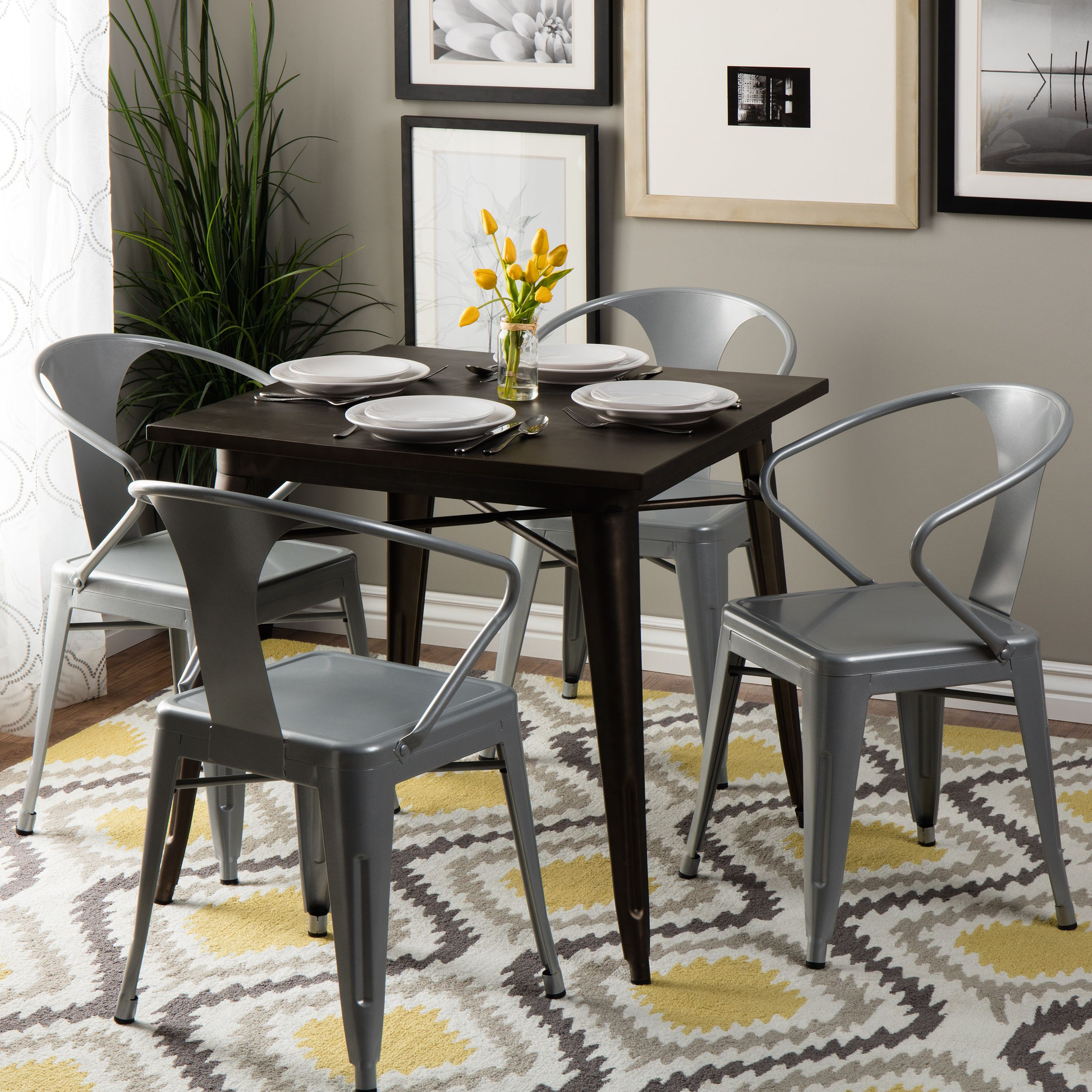 Lovely Silver Tabouret Stacking Chairs (Set Of 4) By I Love Living