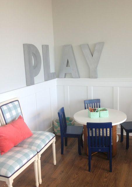 WHITE + GOLD Playroom Para la casa Pinterest Con letra
