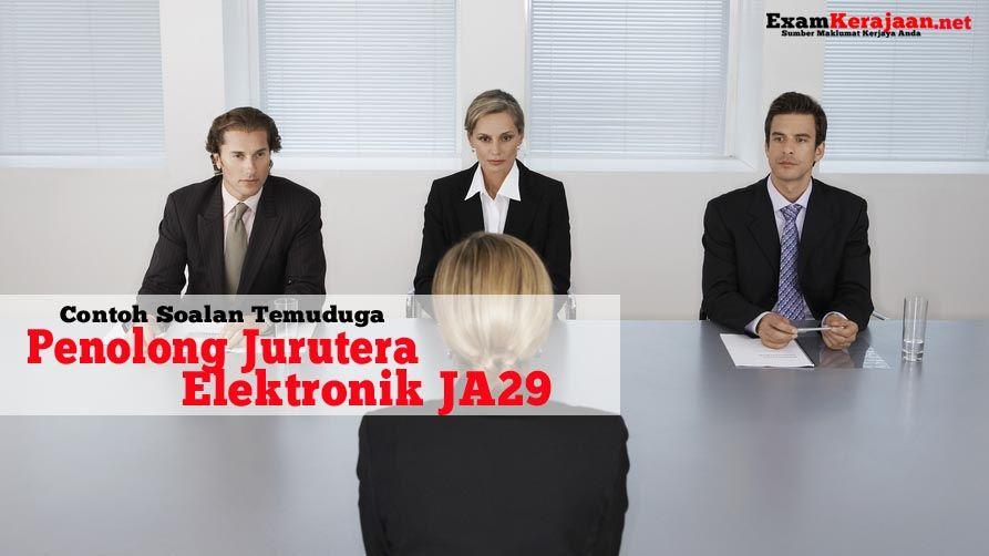 Contoh Soalan Temuduga Penolong Jurutera Elektronik Gred Ja29 Baca