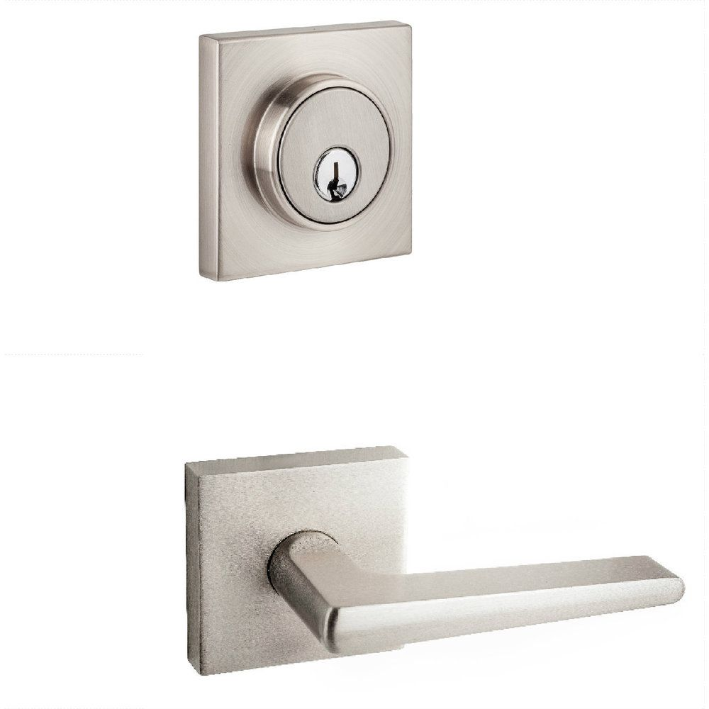 Sure Loc Modern Square Satin Nickel Door Lever   Overstock™ Shopping   Big  Discounts