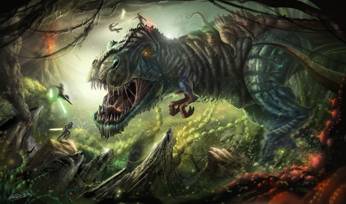 Dinosaurs in Sci-fi and fantasy art – part IV | parlor of horror