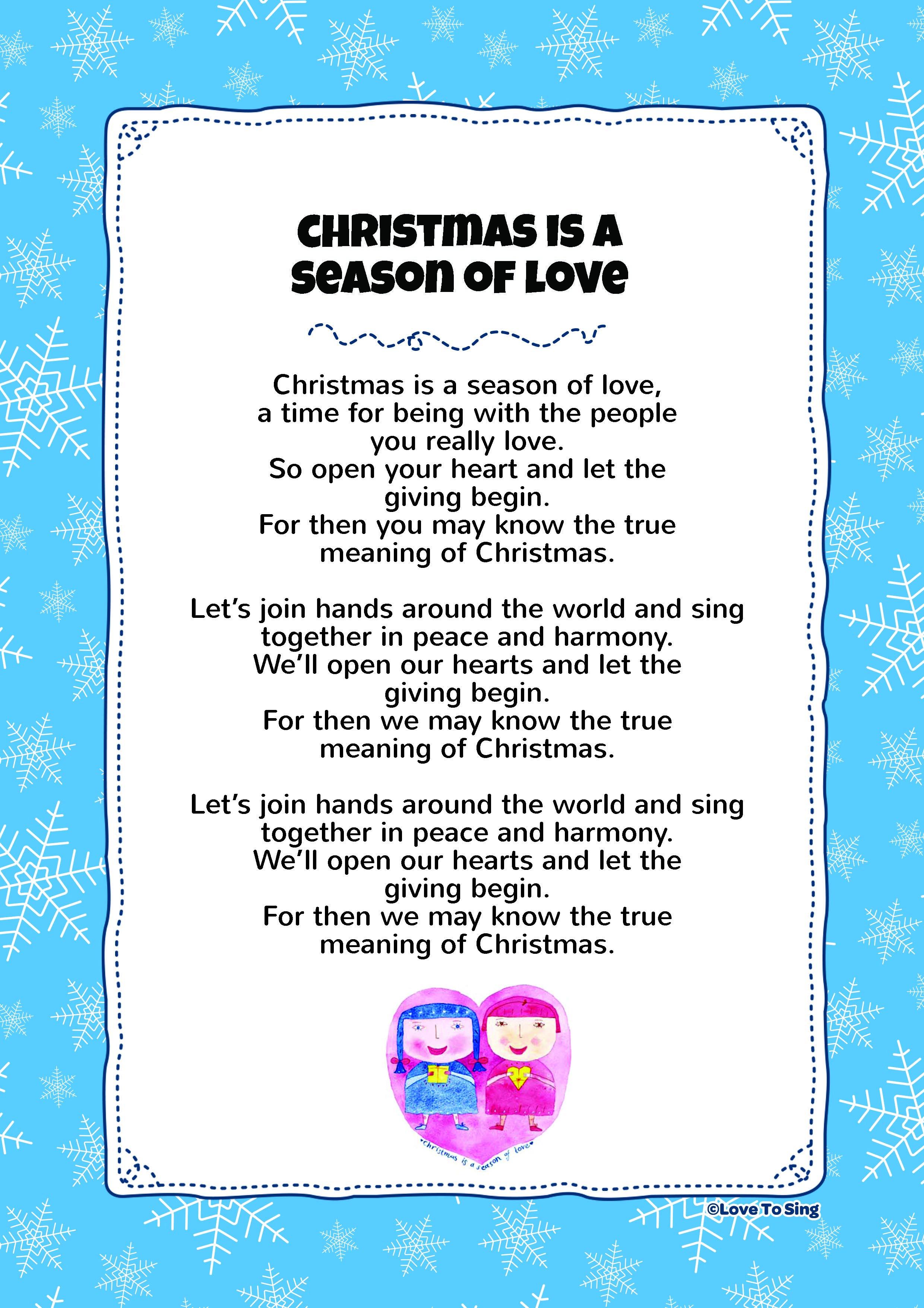 Christmas Is A Season Of Love