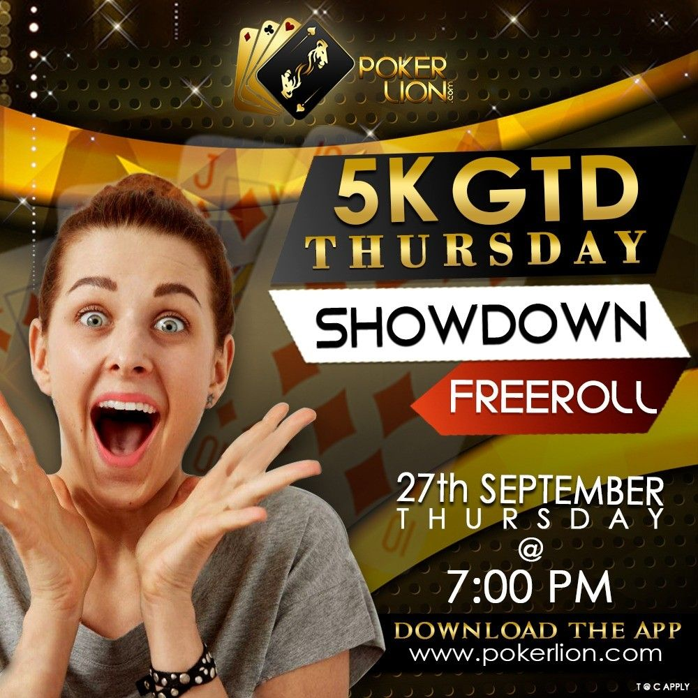 Your Poker table awaits you! Play 5K GTD Thursday Showdown