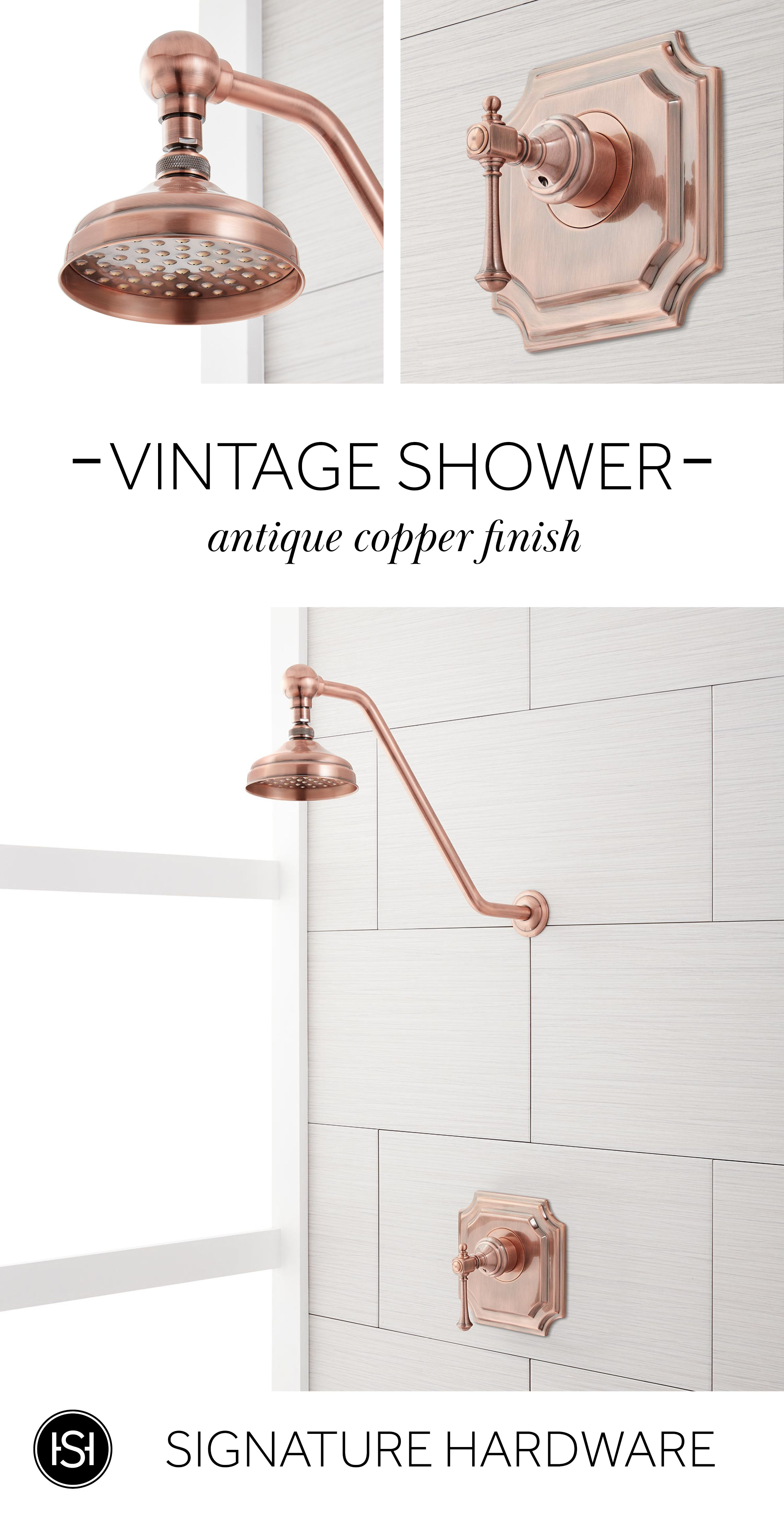 Our Vintage Shower Set Is The Perfect Luxurious Addition To Any
