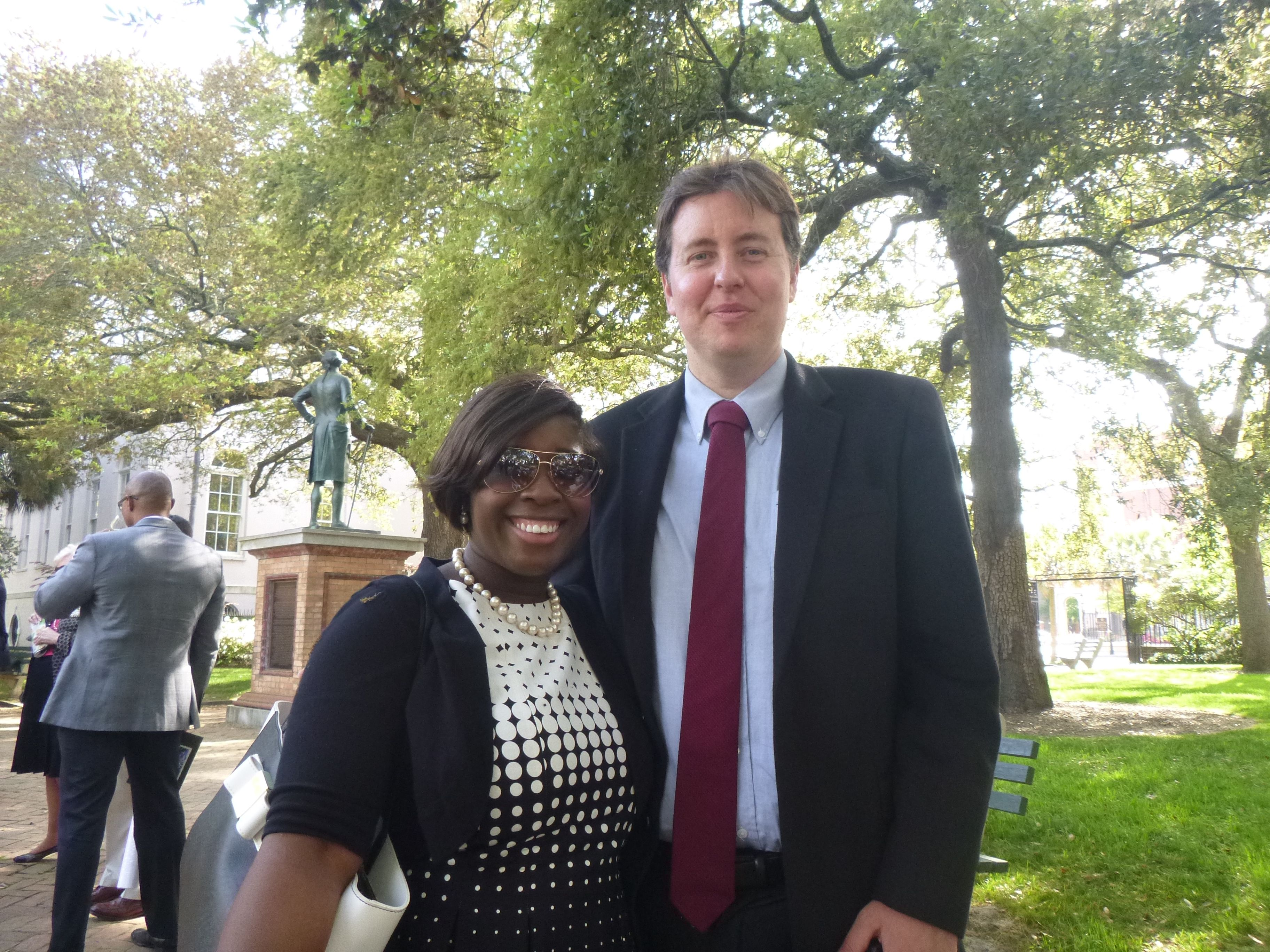 Lawyer Evan Guthrie With Attorney Myesha Brown At The Charleston