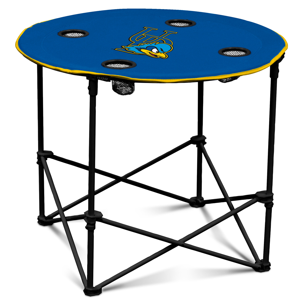 University Of Delaware Folding Round Table Chairs Logo Tailgate Table Round Folding Table