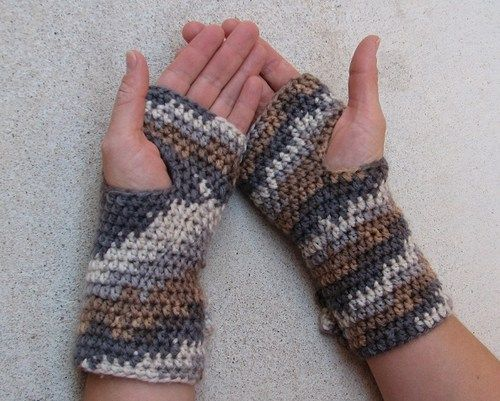 Fingerless Gloves With Flower Crochet Pattern Pdfeasy Pinterest