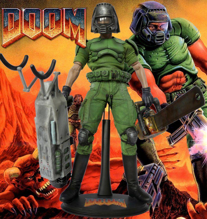 Doom Doomguy Custom Action Figure Custom Action Figures Action