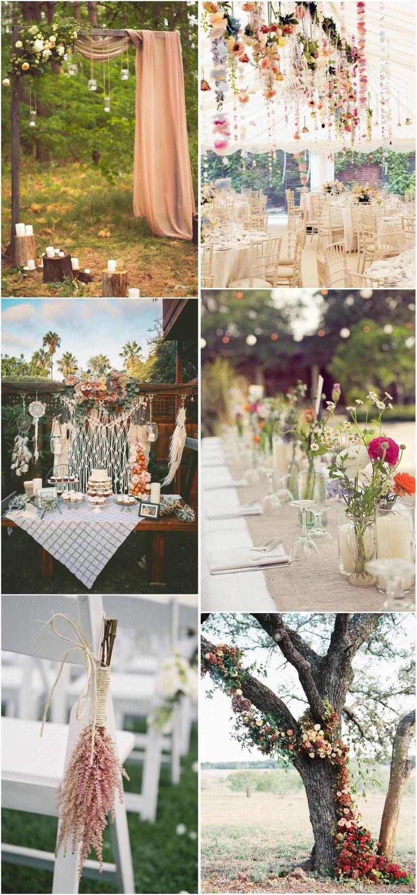 20 gorgeous boho wedding décor ideas on pinterest down the aisle