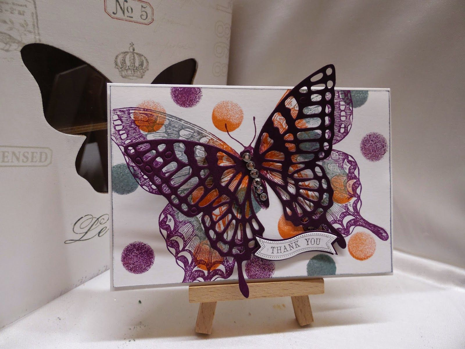 Stampin Up at The Warren: February 2015; Butterfly Framelits, Bitty Banners Framelits, Swallowtail Stamp, Itty Bitty Banners Stamp Set