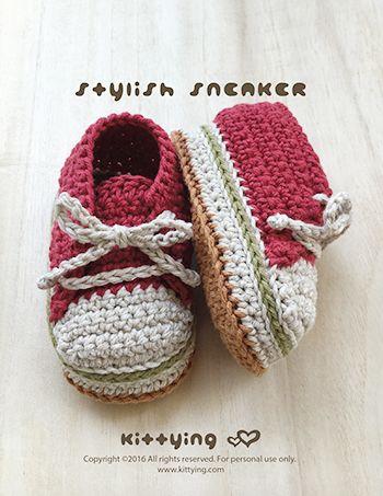 Stylish Baby Sneakers Crochet Pattern Kittying Crochet Pattern By
