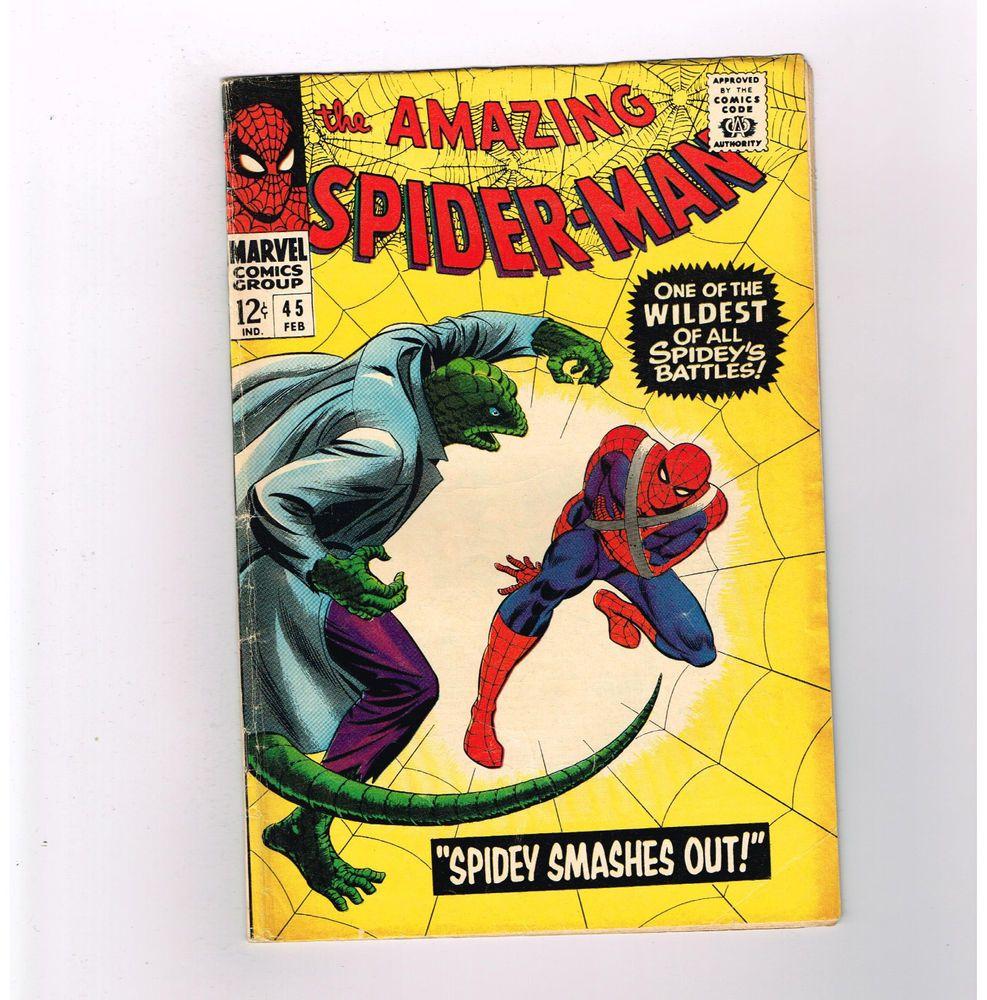 AMAZING SPIDER-MAN (v1) #45 Super Silver Age Marvel! 3rd LIZARD appearance!  http://www.ebay.com/itm/AMAZING-SPIDER-MAN-v1-45-Super-Silver-Age-Marvel-3rd-LIZARD-appearance-/301686104207?roken=cUgayN&soutkn=NjEOiJ
