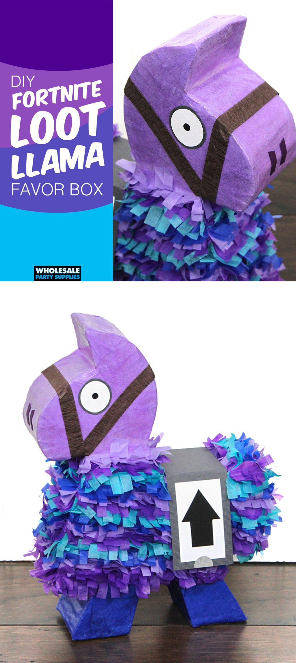 Diy loot llama favor box valentine day boxes valentine