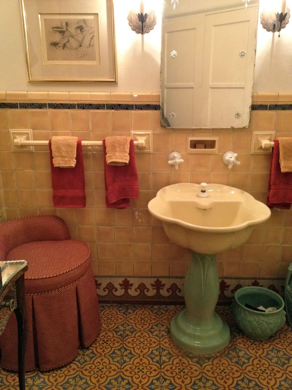 charming old bathroom - what a great sink that would be in a little girls  bathroom