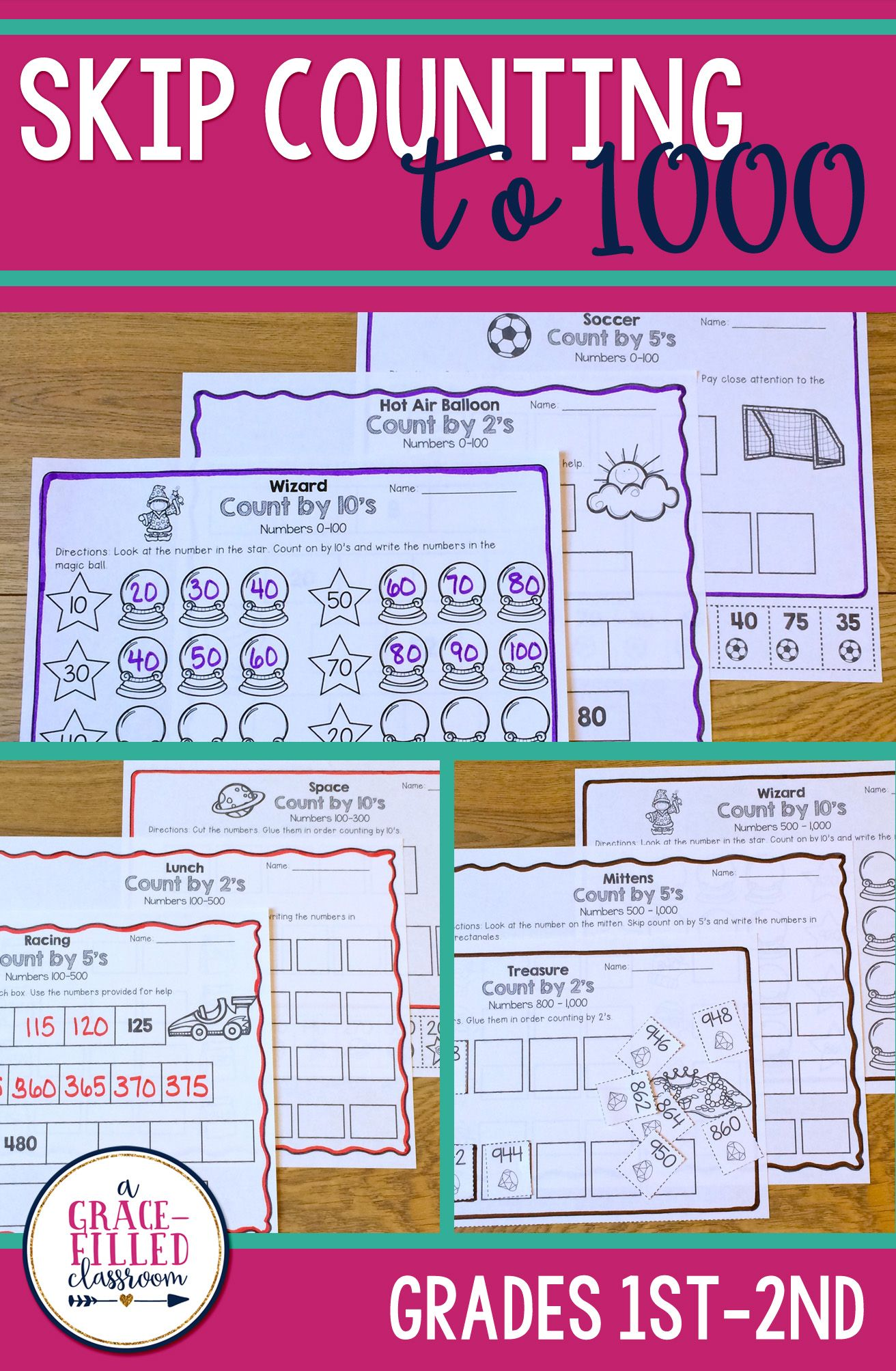 Skip Counting Worksheets To 1 000