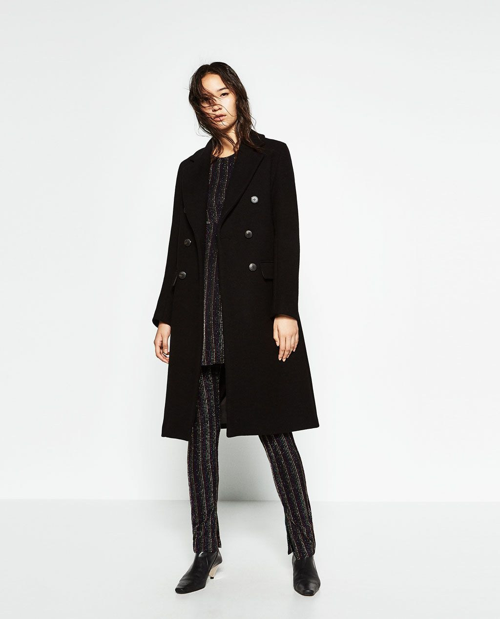 DOUBLE BREASTED WOOL COAT-Coats-OUTERWEAR-WOMAN-SALE | ZARA United ...