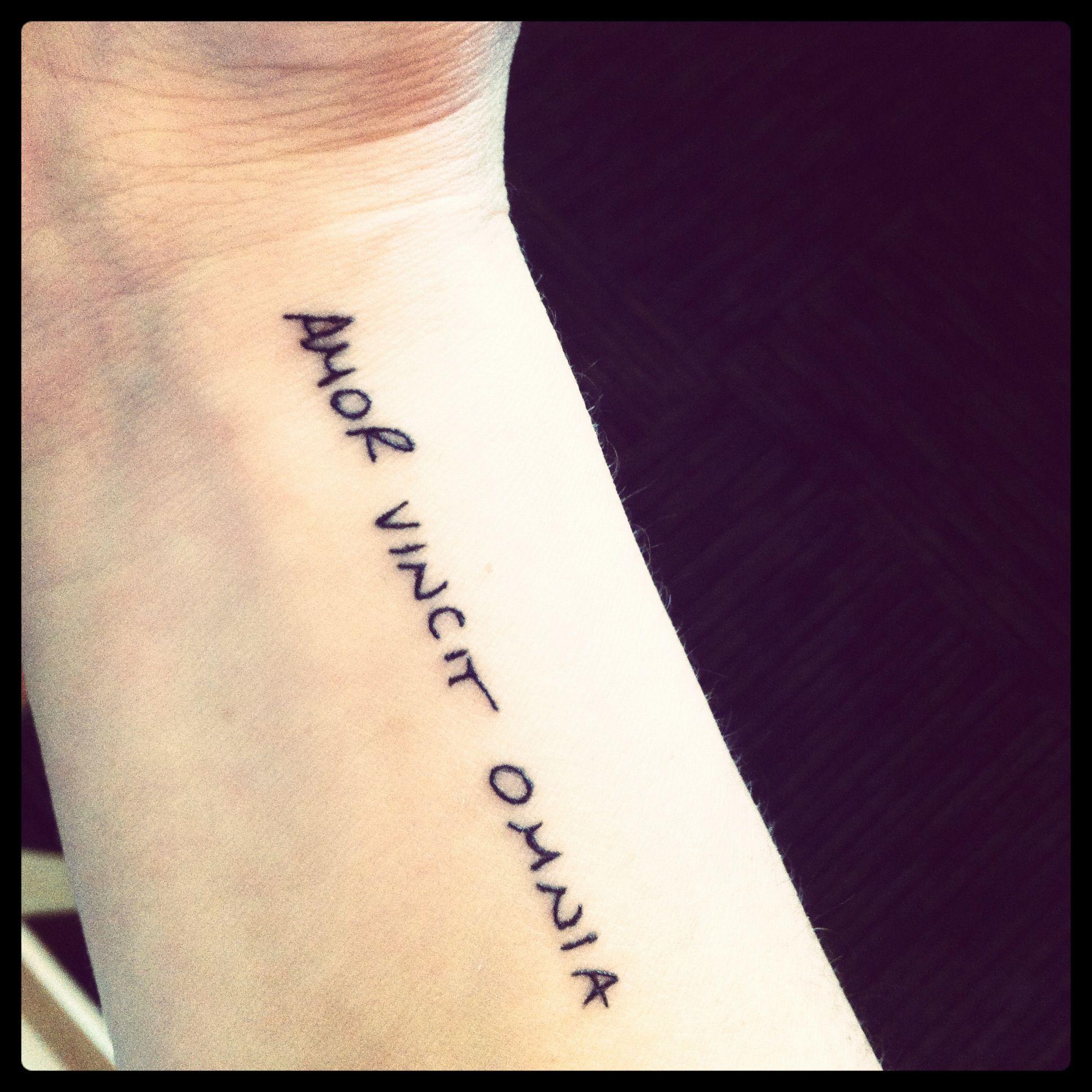 Amor Vincit Omnia Tattoos Inspirational Tattoos First Tattoo