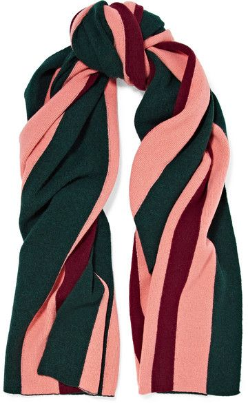 Acne Studios Ninos Striped Wool Scarf - Emerald   Products   Pinterest 89ce1d845df