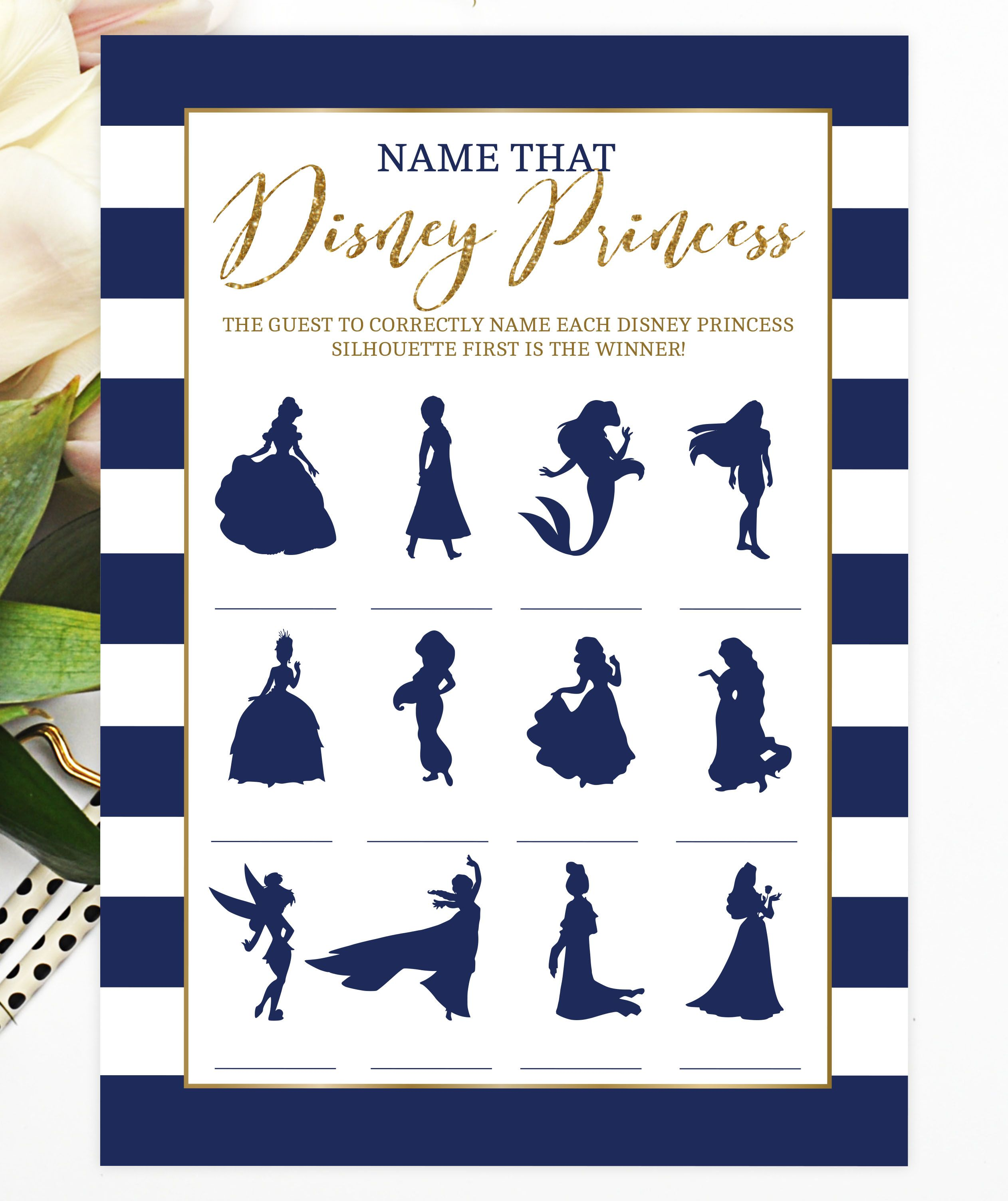 bridal shower bridal shower games bachlorette game disney princess game blue nautical bridal shower ideas navy blue gold hen party disney bridal