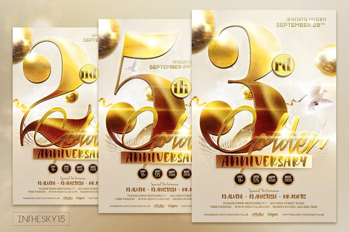 Golden Anniversary Flyer Template Flyer Template Flyer