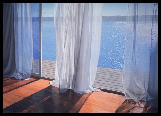 Summer Breeze by Alice Dalton Brown Interior Window Beach Print Poster 24x36