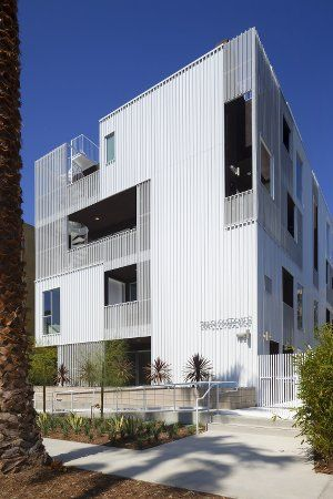 Metal Wall Panels Complete Modernist Multifamily Design Proud Green Home Architecture Facade Architecture Dezeen Architecture