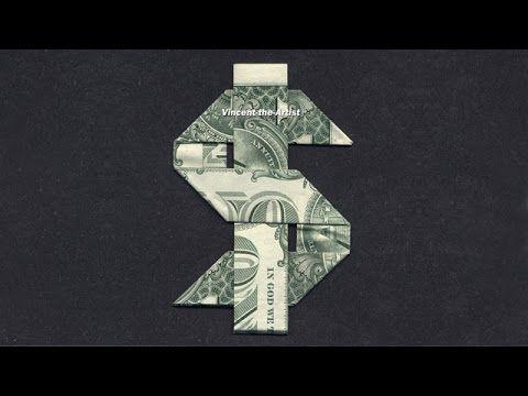 0360477b8 Money Origami DOLLAR SIGN - YouTube | Origami | Money origami ...