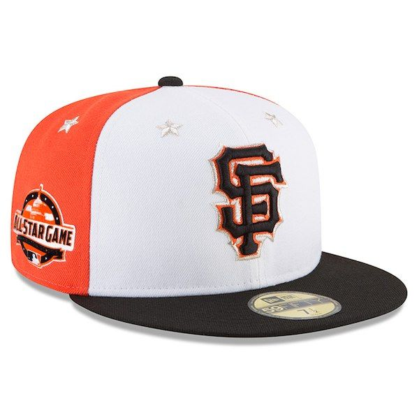 582f651ccae Men s San Francisco Giants New Era White Black 2018 MLB All-Star Game On-Field  59FIFTY Fitted Hat