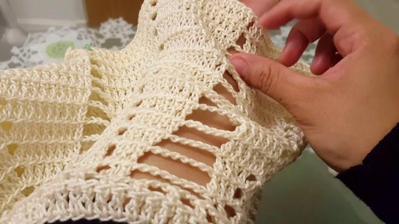 Blusa en crochet (ganchillo)