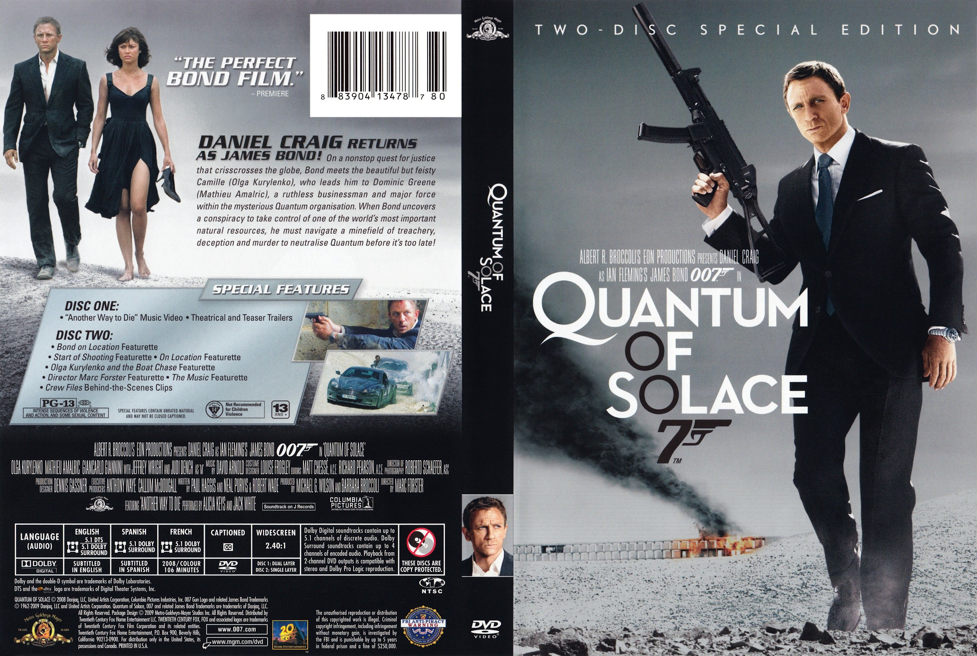quantum of solace | DVD covers and movie posters ...