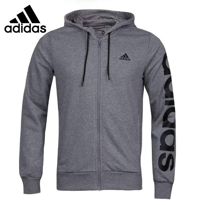 Original New Arrival Adidas Lin Fz Hood Ft Men's jacket