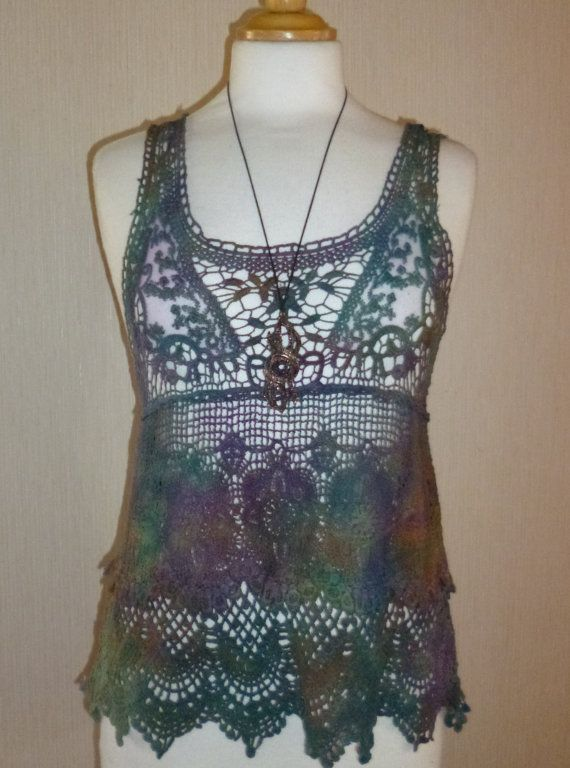 Lace/ Hippy/Festival/Crochet/Tie Dye/Fairy/Hand by Salamanderetsy