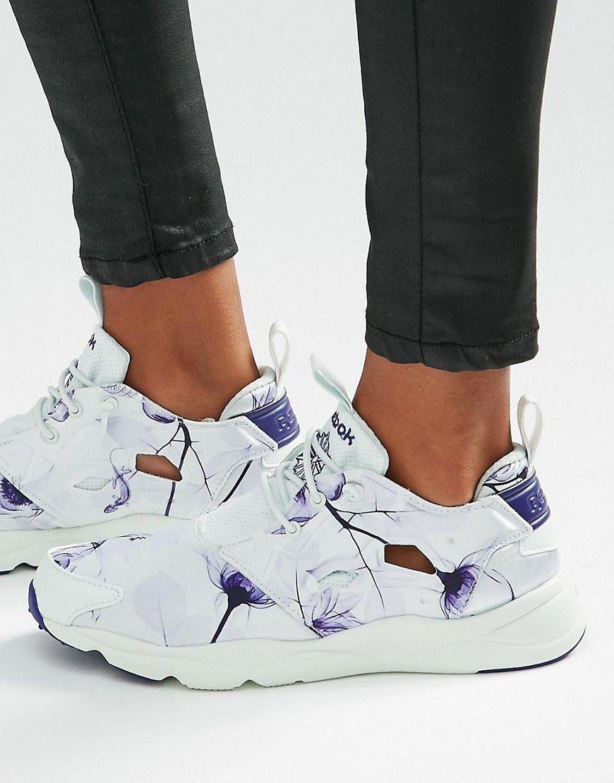 online store cfd16 fb777 Image 1 of Reebok Furylite Sneakers In Botanical Floral Print