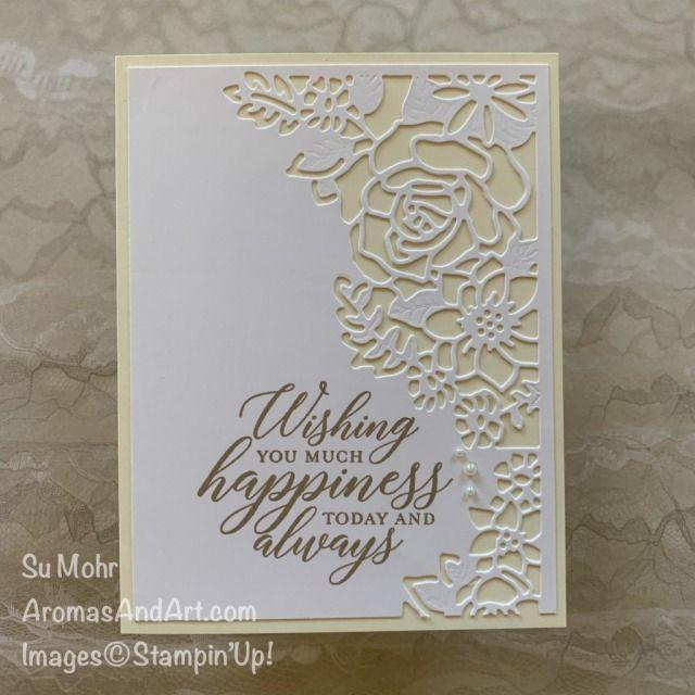 Easy To Make Wedding Card - Aromas and Art