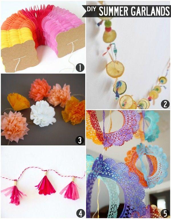 Budget Styles Diy Summer Garland Ideas Diy Summer Garland Crafts Summer Diy Crafts Diy Crafts
