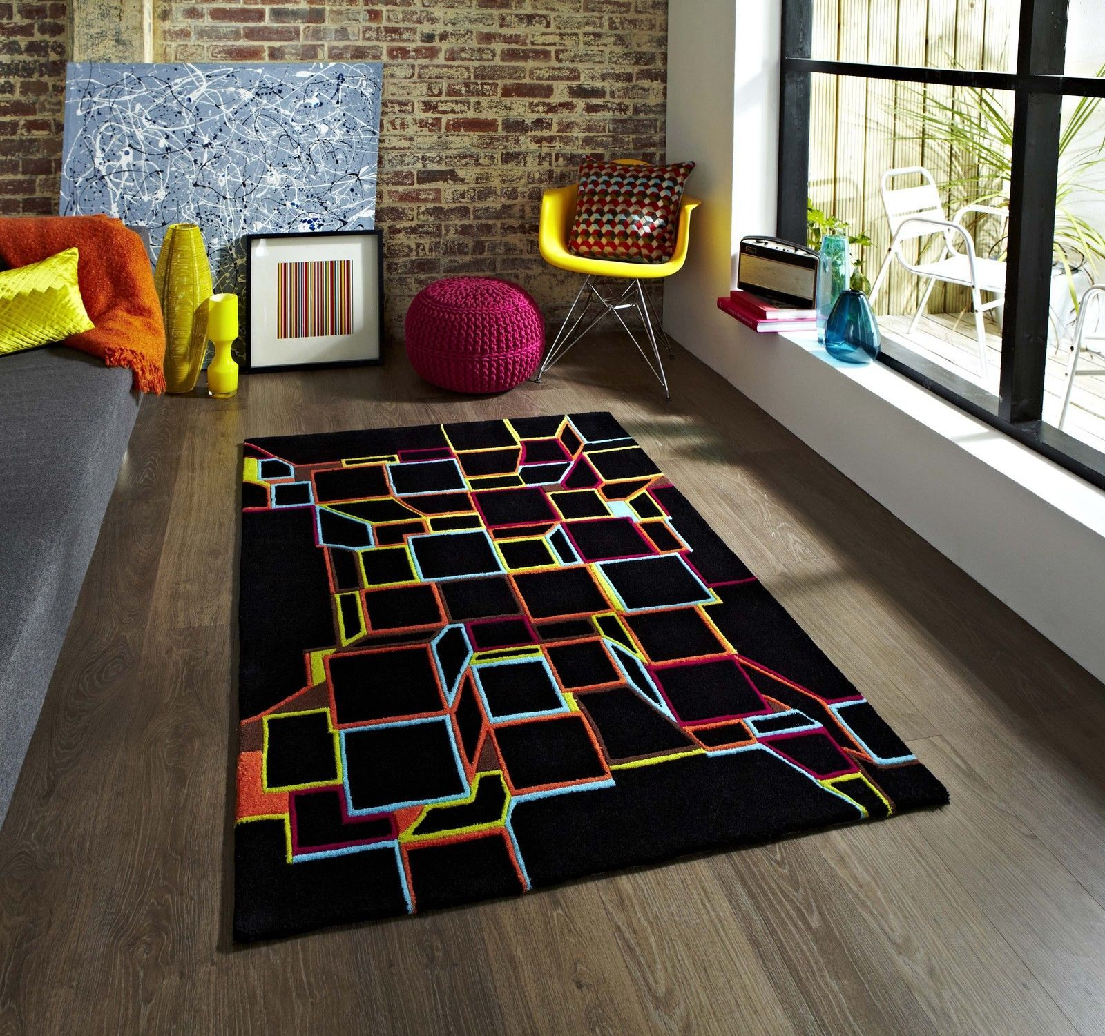 Small Large Pink Rug Cerise Runners Sparkle Modern Thick: Details About SMALL EXTRA LARGE TRENDY ART FUNKY MODERN